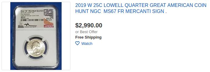 West Point 2019 W War in Pacific Great American Coin Hunt NGC 66
