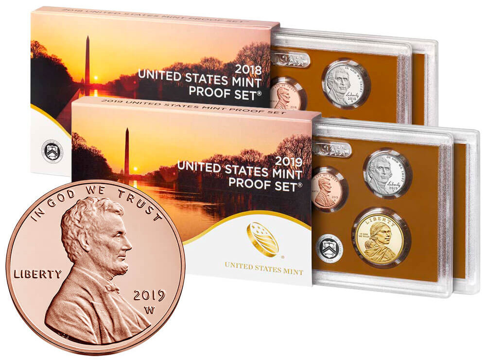 2019 US Mint SILVER Proof Set RARE REVERSE PROOF West Point W Lincoln Cent 19RH